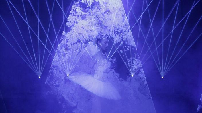 swan lake louisville ballet laser light lapis display